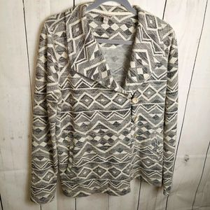 Lucky Brand jacket geometric black white large